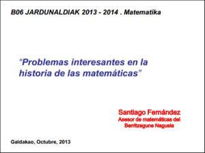 Problemas históricos  (Santiago Fernandez)